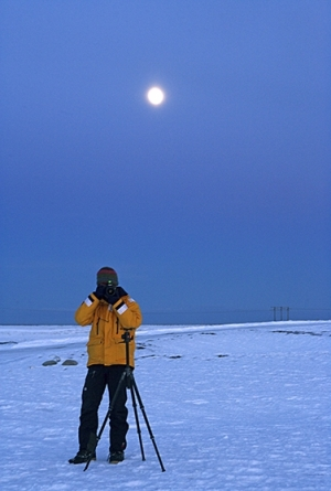 On field in Iceland in winter. (Photo by Marcello Libra)