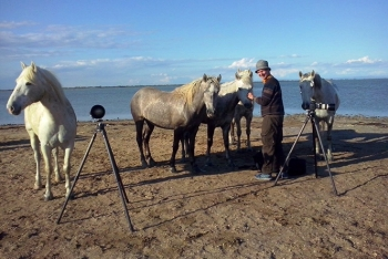 With the horses in Camargue. (Photo by Daniel Vyhnal)