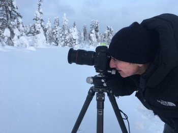 Winter photography in Lapland (Finland). (Photo by Bruno Klein)