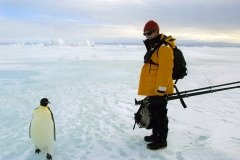 In Antarctica with the Emperor Penguin. (Photo by Desirée Astrom)