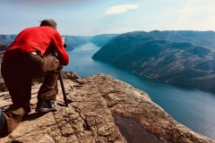 On the cliffs of Norway. (Photo by Cristina Figari)