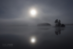 SII0915_0118_ Full moon night in the fog (Finland)