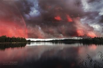 CIELO D_ACQUA - Tramonto dopo il diluvio (Finlandia)