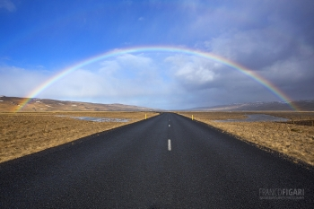 ISL0315_0264_Rainbow on the road (Iceland)