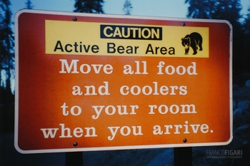 CAL1099_0715_Beware of bears (Yosemite National Park, California, USA)