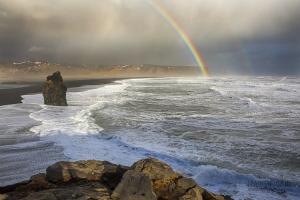 ISL0315_0368_Stormy sea off the beach and cliffs of Dyrhòlaey (Iceland)